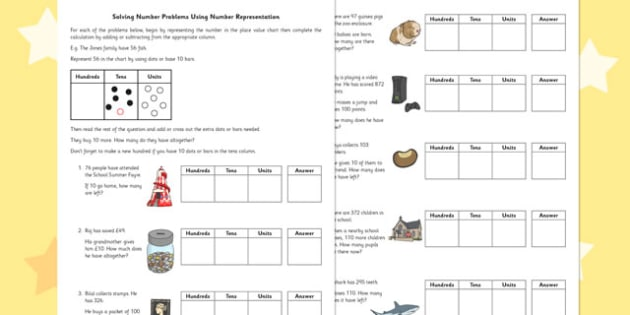 Solving Number Problems Using Number Representation - number