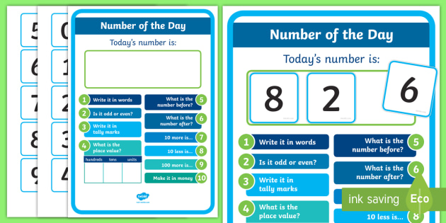 Number of the Day Display Poster - New Zealand, Back to School, maths, numbers, nz, challenge