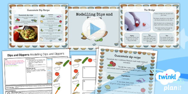 D&T: Dips and Dippers: Modelling Dips and Dippers KS1 Lesson Pack 4