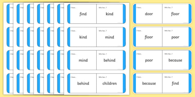 Year 2 Common Exception Words Loop Cards - year 2, common exception words, loop cards, common exception, words