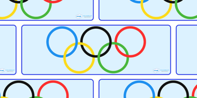 Olympic Rings Display Banner - Olympics, Olympic Games, sports, Olympic, London, 2012, display, banner, poster, sign, rings, Olympic torch, flag, countries, medal, Olympic Rings, mascots, flame, compete, tennis, athlete, swimming, race,