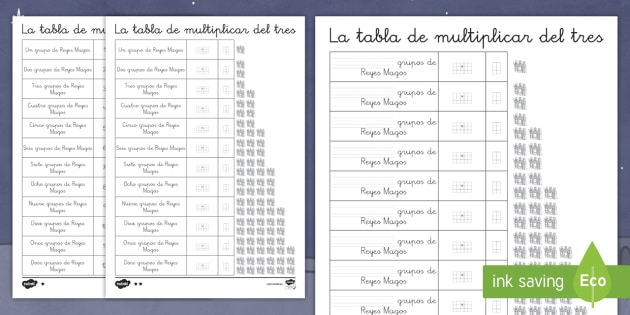 Multiplying by Three with the Three Wise Men Differentiated Activity Sheet