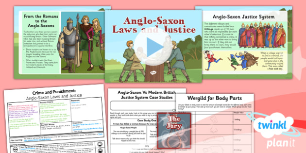 History: Crime and Punishment: Anglo-Saxon Laws and Justice LKS2 Lesson Pack 2