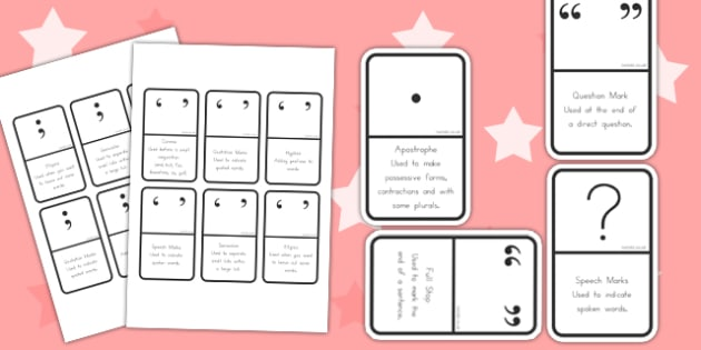 Punctuation Dominoes - game, activity, activities, punctuate