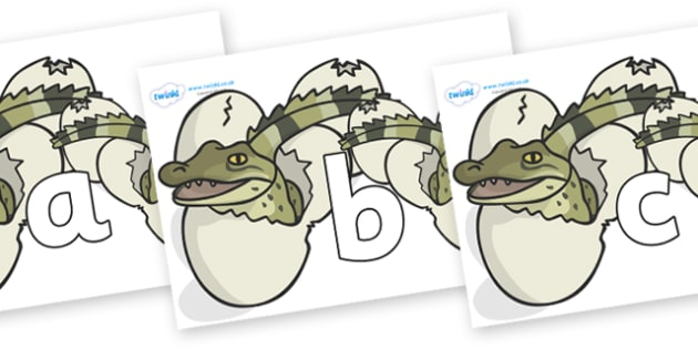 Phoneme Set on Hatching Aligators - Phoneme set, phonemes, phoneme, Letters and Sounds, DfES, display, Phase 1, Phase 2, Phase 3, Phase 5, Foundation, Literacy
