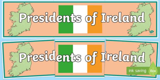 Presidents of Ireland Display Banner