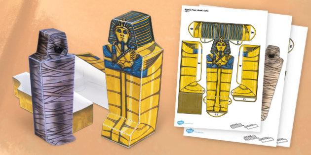 Egyptian Mummy Paper Model Pack - egypt, mummy, paper, model