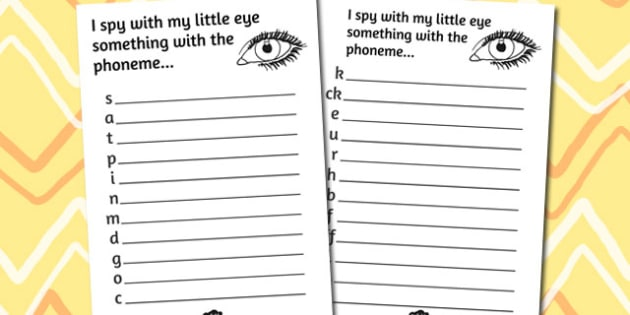 Phase 2 Phoneme Hunt Activity Sheet Pack - activity, sheets, phoneme, worksheet