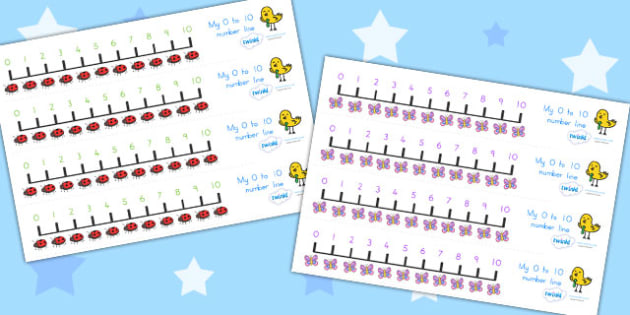 Number Line 0 10 Minibeasts - number line, minitbeasts, counting