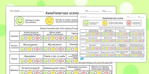 Pupil Questionnaire Polish - polish, questionnaire, pupil, question