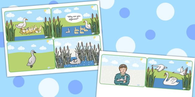 The Ugly Duckling Short Story Sequencing - story, sequencing