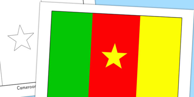 Cameroon Flag Display Poster - countries, geography, flags