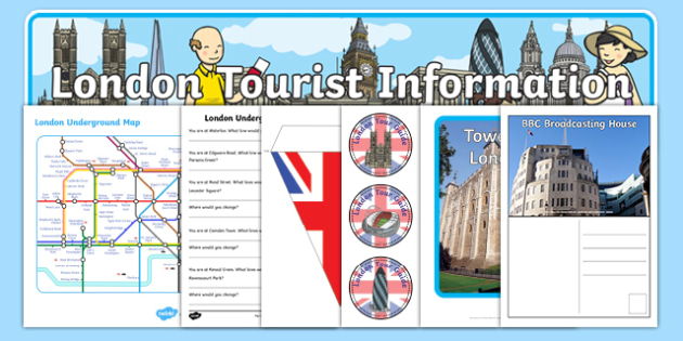London Tourist Information Role Play Pack - London, role play, pack, resource pack, captial, England, tourism, tourist, information, Big Ben, Parliament, Tower Bridge, sight seeing
