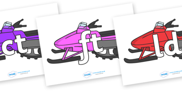 Final Letter Blends on Snowmobiles - Final Letters, final letter, letter blend, letter blends, consonant, consonants, digraph, trigraph, literacy, alphabet, letters, foundation stage literacy