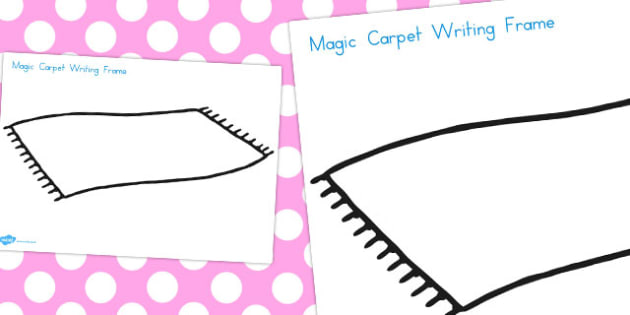Aladdin Magic Carpet Writing Frame - frames, write, literacy