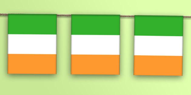 Republic of Ireland Flag Bunting - republic of ireland flag, republic of ireland, bunting, display bunting, display