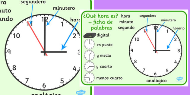 Spanish Time Word Mat - spanish, time word mat, word, mat, time