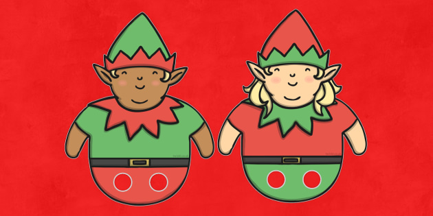 Christmas Elf Finger Puppets - activity, activities, festivities