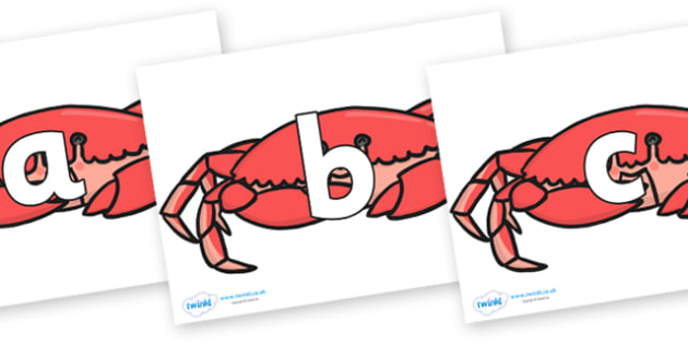 Phoneme Set on Crabs - Phoneme set, phonemes, phoneme, Letters and Sounds, DfES, display, Phase 1, Phase 2, Phase 3, Phase 5, Foundation, Literacy