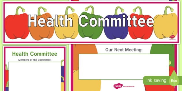 Health Committee Display Banner and Poster - health committee, display banner, display, banner