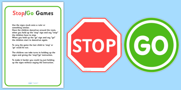 Stop Go Game - stop, go, instructions, instruction game, games