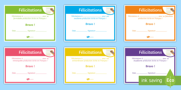 French End of Year Written Work Award Certificate - French, End of Year, Award, Certificates,écrit, écriture, writing, written - French, End of Year, Award, Certificates,écrit, écriture, writing, written