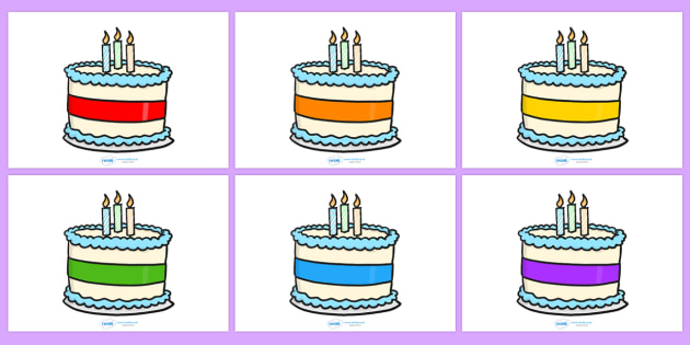Editable Birthday Cakes (3 Candles) - Birthday, cake, editable, candles, birthday poster, birthday display, months of the year, cake, balloons, happy birthday
