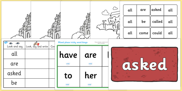 Parents Tricky Words Resource pack - parents, tricky words, pack