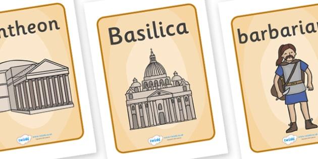 The Romans Display Posters - Romans, Rome, Roman Empire, colosseum, pantheon, Julius Caesar, emperor, gladiator, amphitheatre
