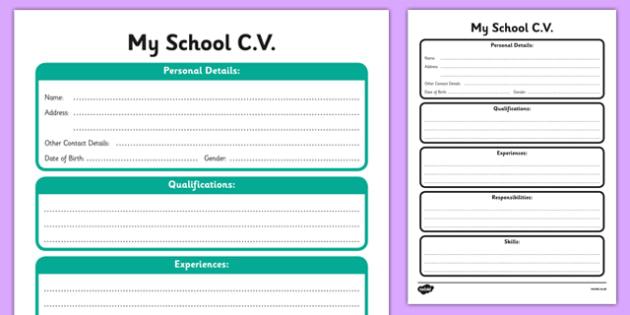 CV Template - cv, template, job, cv template, life, qualifications