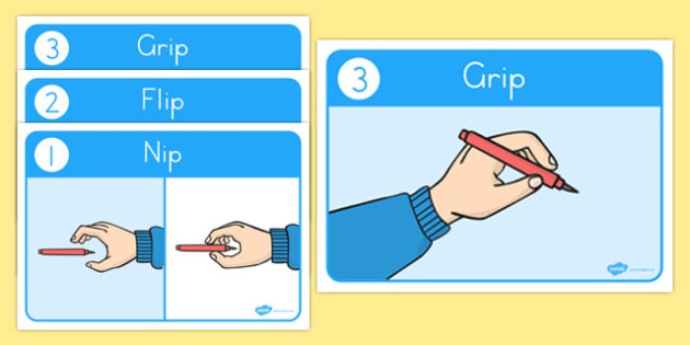 How to Grip a Pencil Posters USA - usa, america, how to, grip, pencil, posters, display