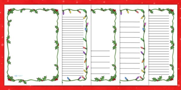 Christmas Themed Page Borders - christmas, page border, borders