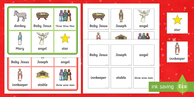 Nativity Matching Cards and Boards