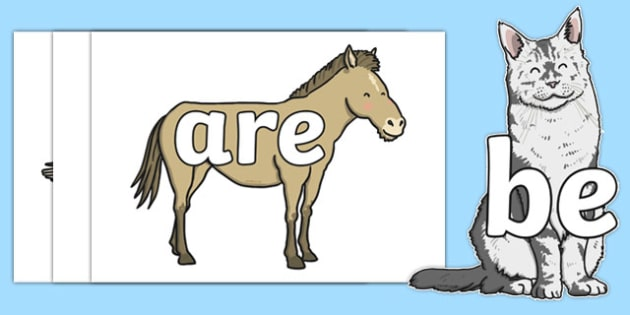 Phase 3 Tricky Words on Farm Animals - phase 3, tricky words, farm animals, farm, animals, images, display