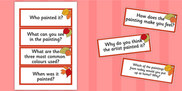 Looking at Paintings Prompt Questions - prompts, questions, paint