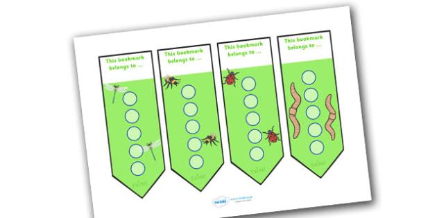 Minibeast Reward Bookmarks (15mm) - Minibeast Reward Bookmarks (15mm), minibeast, reward bookmarks, bookmarks, reward, 15mm, 15 mm, stickers, twinkl stickers, award, certificate, well done, behaviour management, behaviour, minibeasts, fly, caterpilla