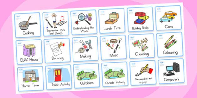 Kindergarten Foundation Visual Timetable - kindergarten, display
