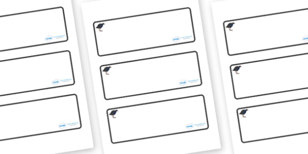 Pukeko Themed Editable Drawer-Peg-Name Labels (Blank) - Themed Classroom Label Templates, Resource Labels, Name Labels, Editable Labels, Drawer Labels, Coat Peg Labels, Peg Label, KS1 Labels, Foundation Labels, Foundation Stage Labels, Teaching Label