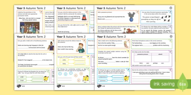 Year 5 Autumn Term 2 SPaG Activity Mats