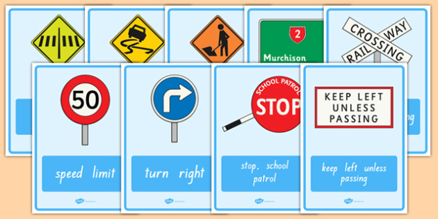 New Zealand Road Signs Display Posters