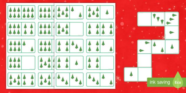 Christmas Tree Dominoes
