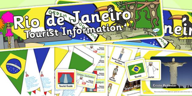 Rio de Janeiro Tourist Information Role Play Pack-rio de janeiro, tourist information, tourist, role play, role play pack, rio de janeiro pack