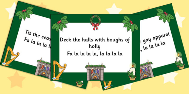 Christmas Carol Deck the Halls PowerPoint - christmas, powerpoint