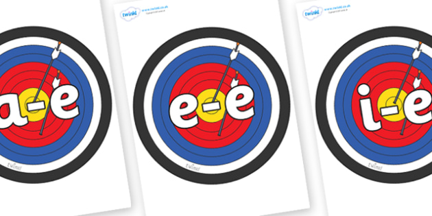 Modifying E Letters on Colour Targets - Modifying E, letters, modify, Phase 5, Phase five, alternative spellings for phonemes, DfES letters and Sounds