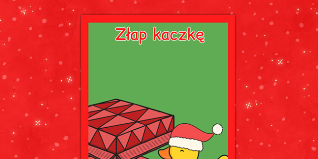 Świąteczny plakat Złap kaczkę po polsku - kiermasz, zabawy, gry