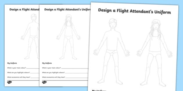 Design A Flight Attendant's Uniform - design, flight attendant