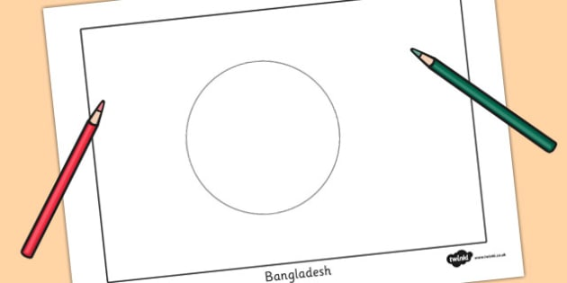 Bangladesh Flag Colouring Sheet - countries, geography, flags