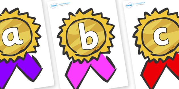 Phoneme Set on Award Rosettes - Phoneme set, phonemes, phoneme, Letters and Sounds, DfES, display, Phase 1, Phase 2, Phase 3, Phase 5, Foundation, Literacy