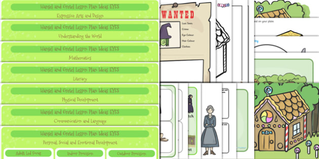 Hansel and Gretel EYFS Lesson and Enhancement Plan Ideas - lesson ideas, plans