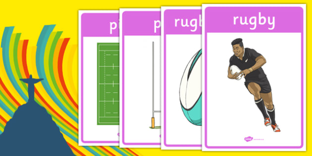 Rio 2016 Olympics Rugby Display Posters - rio olympics, 2016 olympics, rio 2016, rugby, display posters